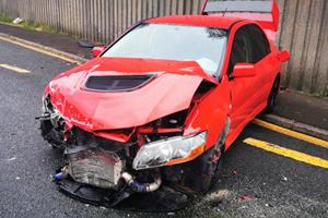 Guy Crashes 2006 Mitsubishi Evo IX One Day After Winning It