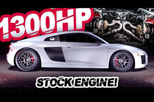 This Stock-Engine Audi R8 Makes 1,300 HP