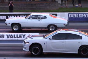 Watch This Old Ford Torino Destroy Charger Hellcat And CTS-V