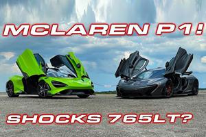 Watch What Happens When The McLaren 765LT Meets The P1