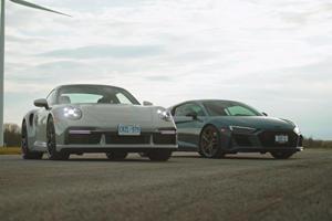 Watch A 2021 Porsche 911 Turbo S Humiliate The Audi R8 V10