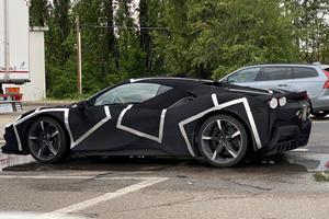 Spied! Ferrari's New V6-Powered Hybrid Supercar