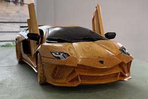 Wooden Lamborghini Aventador S Is Amazingly Detailed