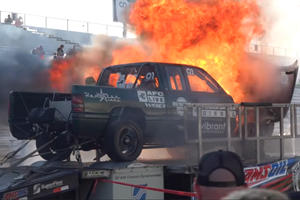 Diesel Truck Explodes Trying To Hit 3,000 HP On Dyno