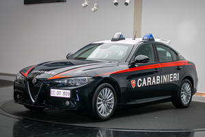 Alfa Romeo Giulia Cop Car Has Bulletproof Glass And Armored Doors