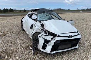Watch A Toyota GR Yaris Roll Over In Spectacular Crash
