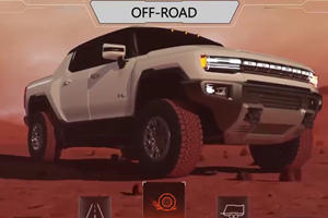 2022 GMC Hummer EV Screen Animations Look Like A Video Game