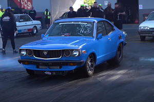 Watch A Classic Mazda RX-3 Go 200 MPH On The Strip