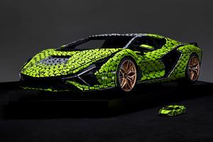 Lego Reveals Life-Size Model Of Lamborghini Sian