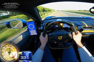 Watch A Ferrari 812 Superfast Hit 205 MPH On The Autobahn