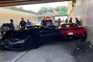 Three Ferraris Crash Into Each Other In Million-Dollar Fail