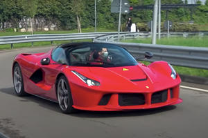Can You Spot What's Weird About This LaFerrari Leaving The Factory?