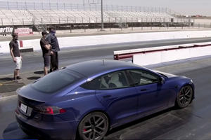 Watch Jay Leno Set A New Record In The Tesla Model S Plaid