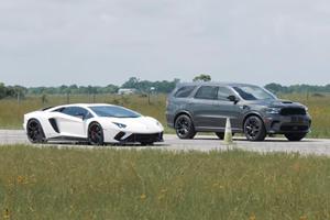 Drag Race: 1,000-HP Dodge Durango Destroys Lamborghini Aventador
