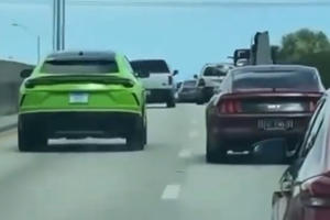 Cops Use Unmarked Ford Mustang GT To Stop Lamborghini Urus