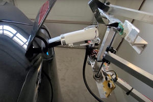 Tesla Owner Creates Automatic Home Charger