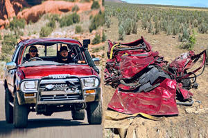 Toyota Hilux Flattened To Death After Falling From 10,000 Feet