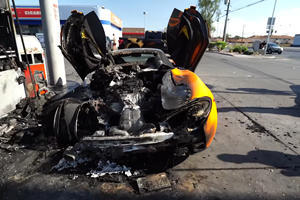 McLaren 570S Burnt To A Crisp After Exploding At Gas Station