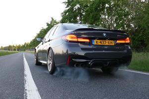 Watch The BMW M5 CS Crest 200 MPH On The Autobahn