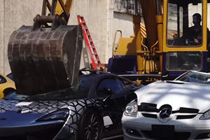 Watch A McLaren 620R Get Crushed By The Government