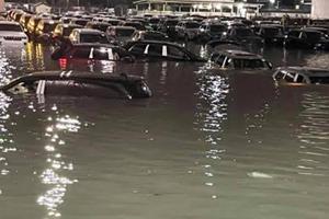 Massive Flooding Strikes Jeep's Detroit Shipping Yard