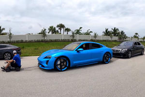 Crazy Powerful RC Car Tows Porsche Taycan And Mercedes S63 Simultaneously