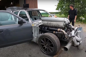 Listen To This Ford Interceptor's 27-Liter V12 Tank Engine Fire Up For The First Time