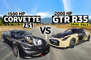 Drag Race: 1,500-HP Corvette Vs. 2,000-HP Nissan GT-R