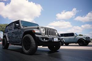 Off-Roader Drag Race: Ford Bronco Vs. Jeep Wrangler