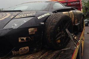 Lambo Murcielago Crashes at Gumball