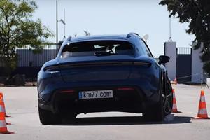 Porsche Taycan Cross Turismo Sucks At Moose Test