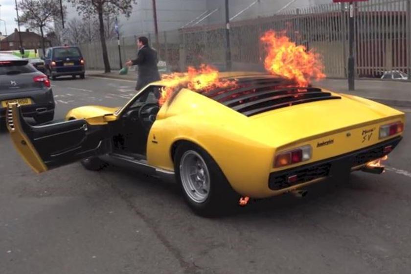 Billionaire Owner Of Toasted Lamborghini Miura Sues The Garage That