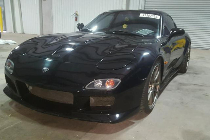 Somebody Swapped This 1993 Mazda Rx 7 S Rotary Engine For An
