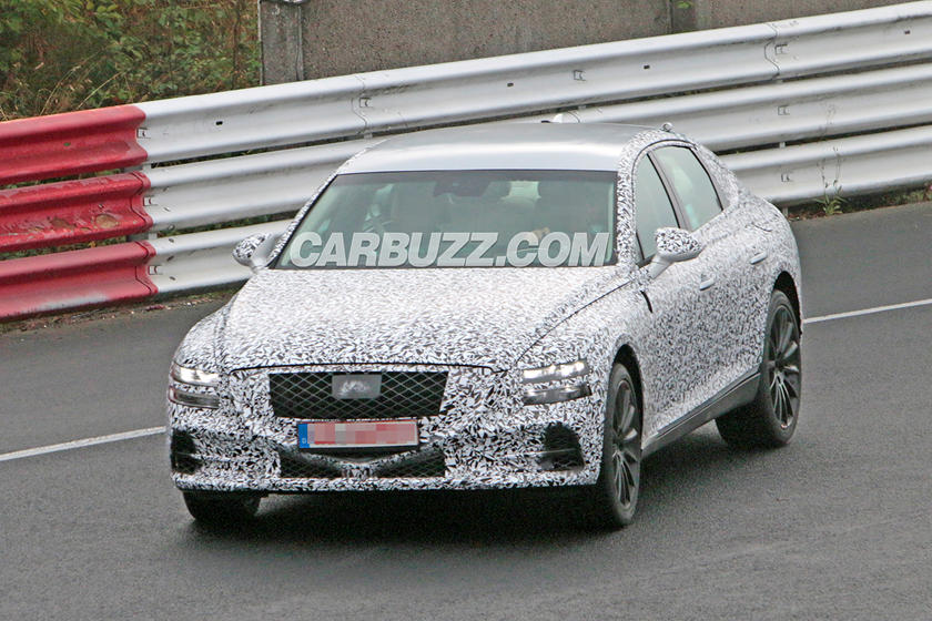 2020 Genesis GV80: News, Design, Release >> 2020 Genesis G80 Spied With Gv80 Concept Styling Cues Carbuzz