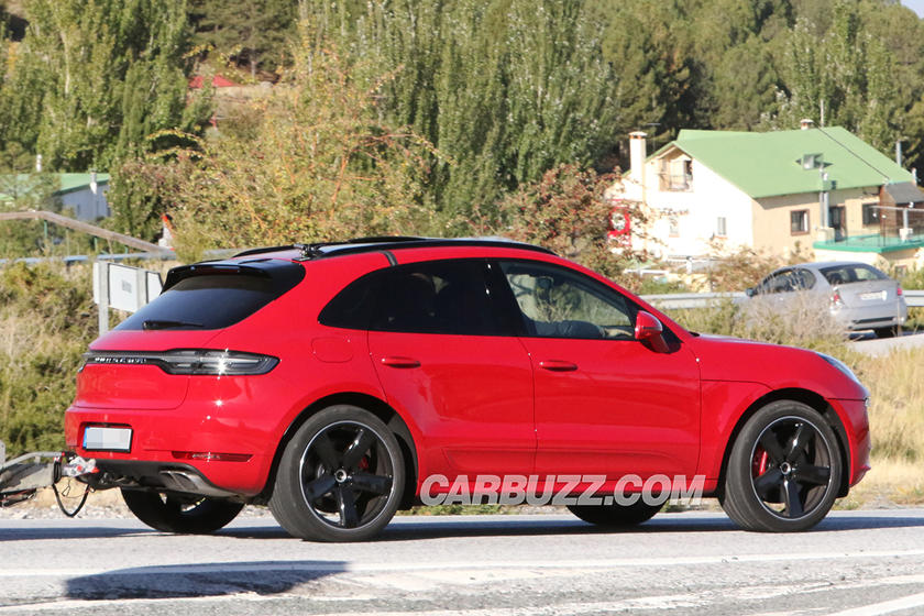 2019 Porsche Macan Turbo Spied Towing A Trailer Before Official