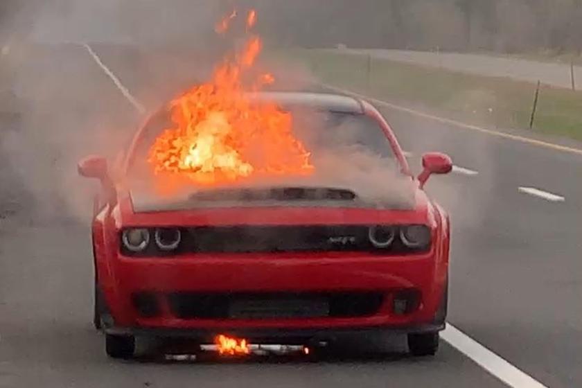 Why Did This Dodge Challenger SRT Demon Burn To A Crisp