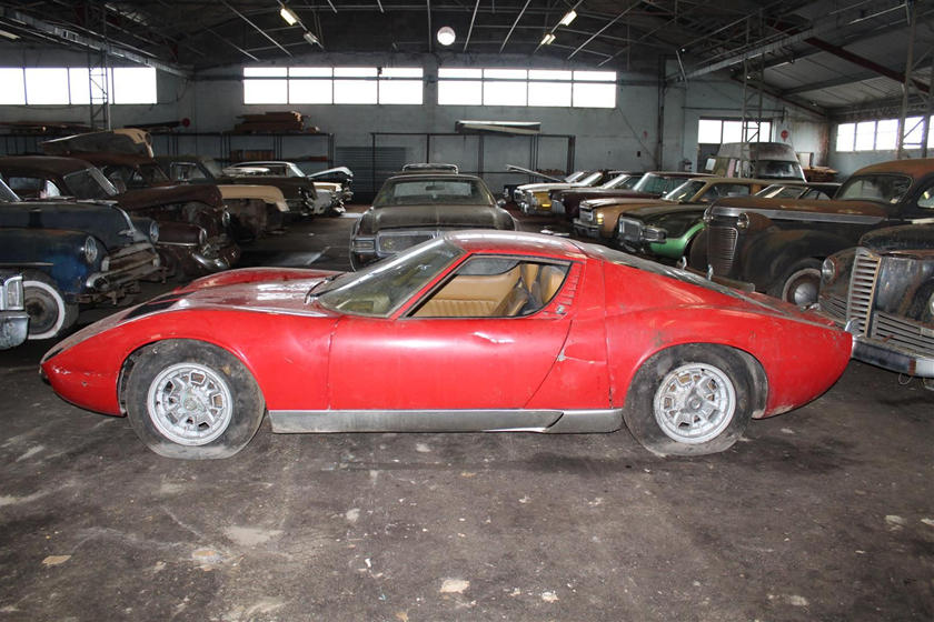 Incredible 81-Car Barn Find Includes This Dusty Lamborghini