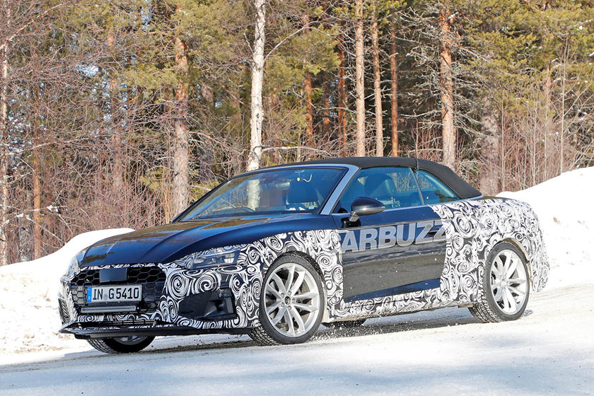 Here S A First Look At The 2020 Audi A5 Cabriolet Facelift Carbuzz
