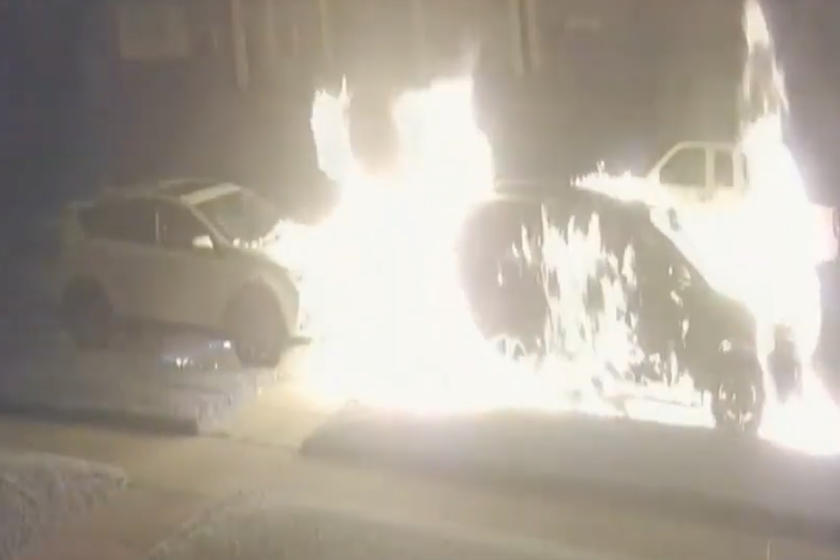 This Guy Scorched Two SUVs With Gasoline And A Flare Gun