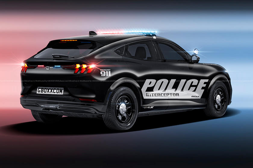 Ford Mustang Mach E Begs To Become A Police Car Carbuzz