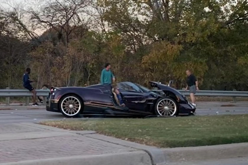 Teen Youtuber Totals Father S One Off Pagani Huayra Roadster Carbuzz