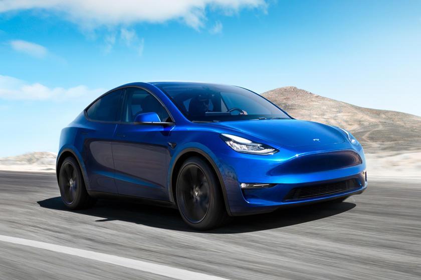 Vue avant du Tesla Model Y 2020-2021