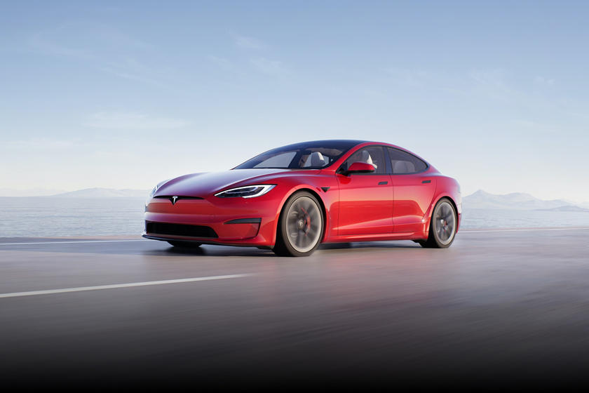 2021 Tesla Model S Plaid Front View Driving