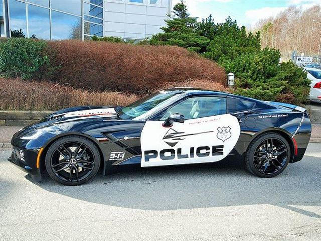 This Corvette Stingray Cop Car is For Sale (in Sweden)   CarBuzz