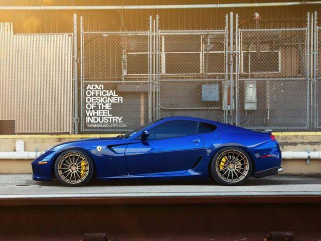 Deadly Combo: Ferrari 599 GTB on Bronze ADV 1 Wheels | CarBuzz