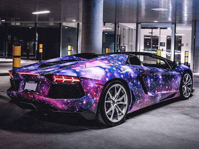 Galaxy Wrapped Aventador Roadster Will Take Your Breath Away Carbuzz