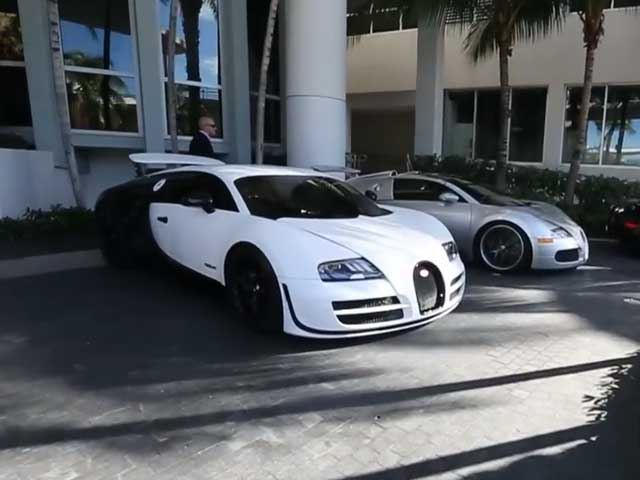 Five Unique Bugatti Veryons Spotted at South Beach Ritz
