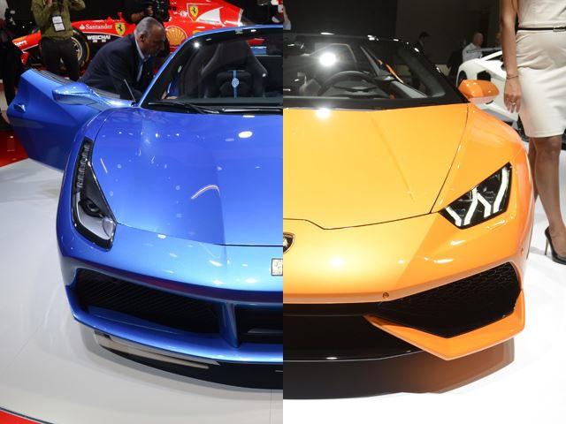 Pick Your Weapon Ferrari 488 Spider Vs. Lamborghini Huracan