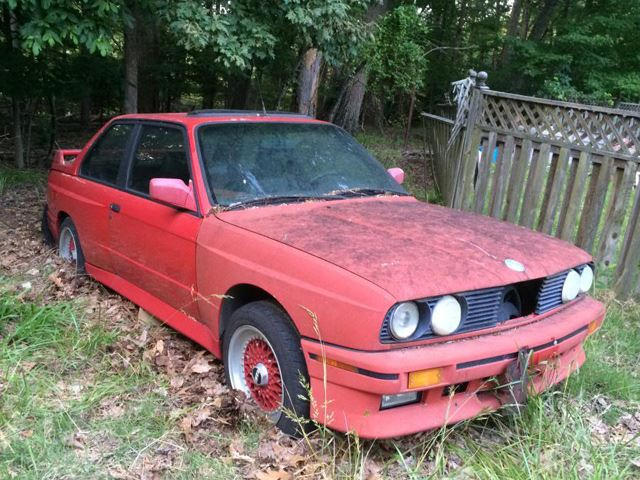 Dumb Luck Is This Guy Who Found An Abandoned Bmw E30 M3 In The Woods