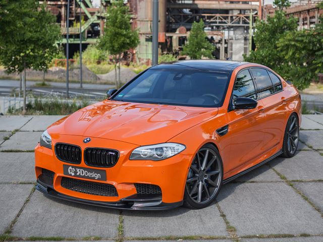 800 Hp Bmw M5 Comes Dripping In Orange Carbon Carbuzz
